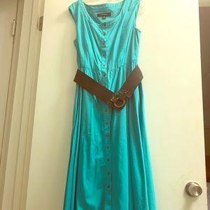 Teal blue dress with side pockets